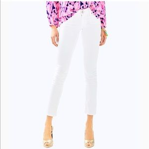 Lilly Pulitzer Worth Skinny Jeans Sateen White 8